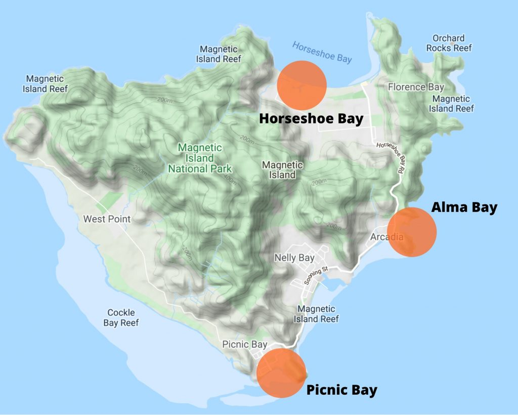 Magnetic Island Activity Locations